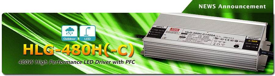 Mean Well HLG-480H(-C) Series LED Drivers