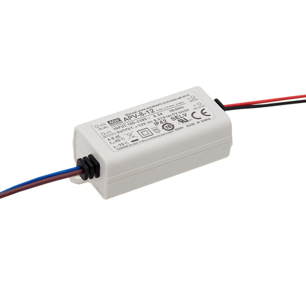 Mean Well APV-8-12 AC/DC C.V. Box Type - Enclosed 24V 0.67A Single output LED driver