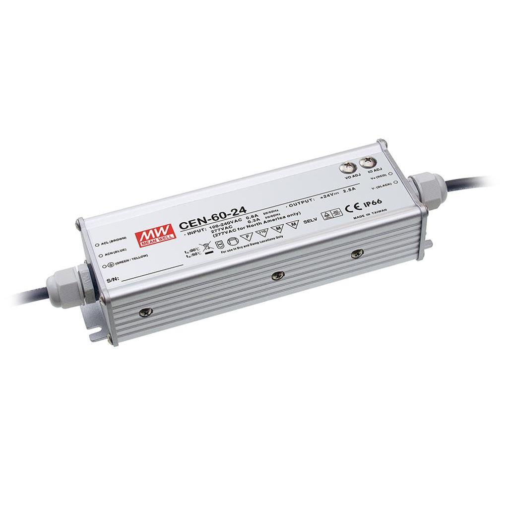 Mean Well CEN-60-20 AC/DC C.C. C.V. Box Type - Enclosed 20V 3A Single output LED driver