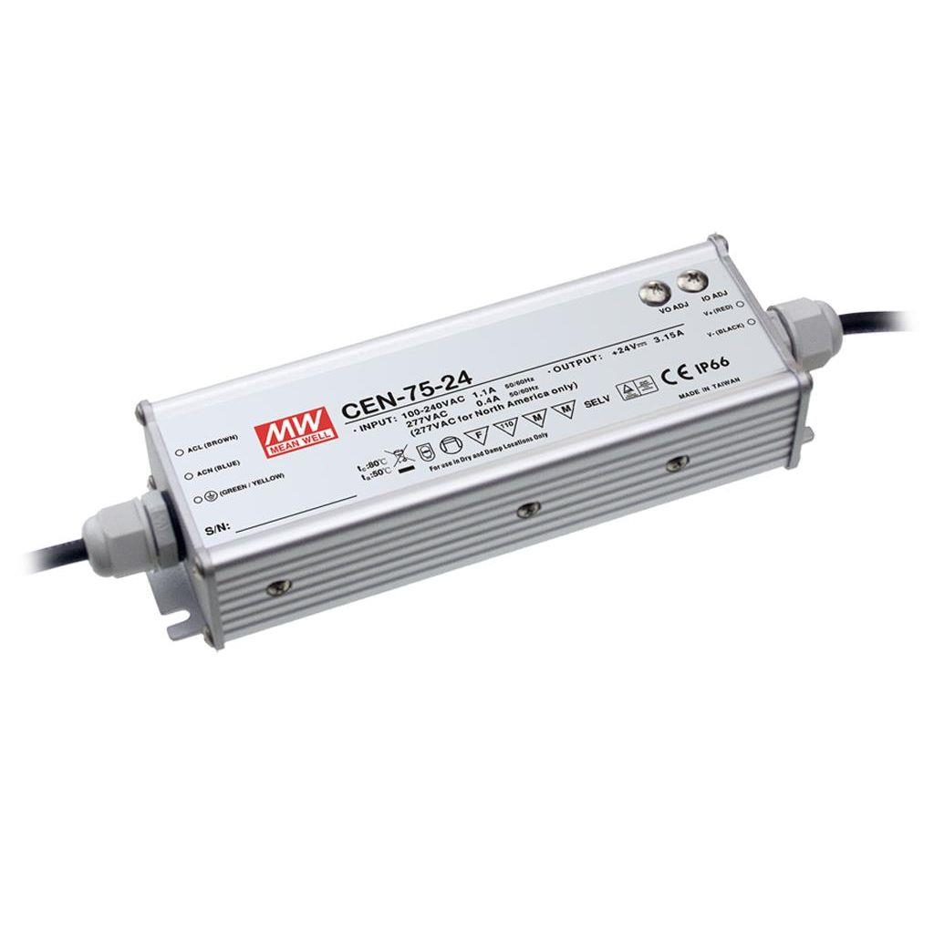 Mean Well CEN-75-48 AC/DC C.C. C.V. Box Type - Enclosed 48V 1.57A Single output LED driver