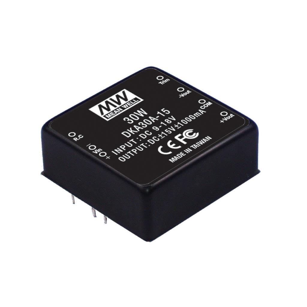 Mean Well DKA30A-15 DC/DC PCB Mount - Through Hole -15V 1A Converter