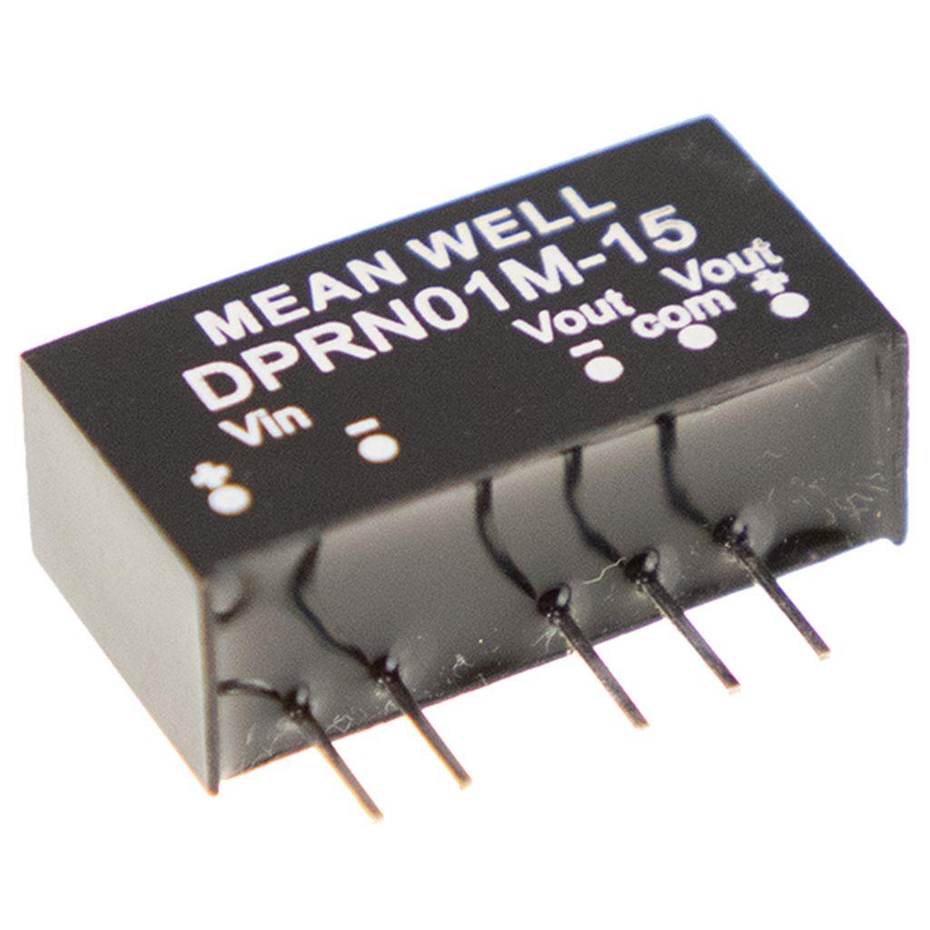 Mean Well DPRN01O-12 DC/DC PCB Mount - Through Hole +-12V +-42A Converter