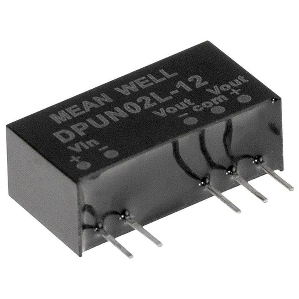 Mean Well DPUN02L-12 DC/DC PCB Mount - Through Hole +-12V +-0.083A Converter