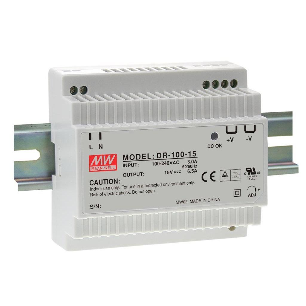 Mean Well DR-100-24 AC/DC DIN Rail 24V 4.2A Power Supply