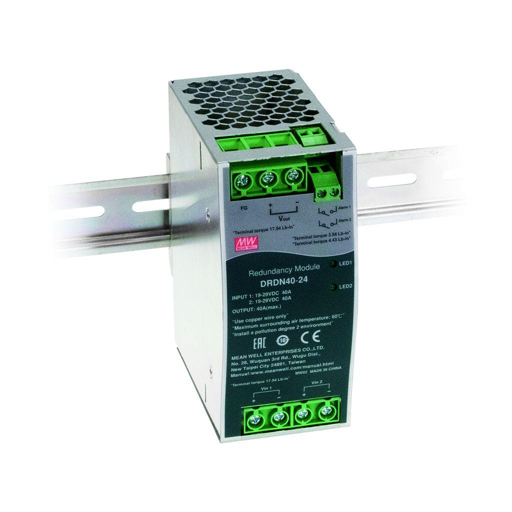 Mean Well DRDN40-24  DIN rail  40A Redundancy Module