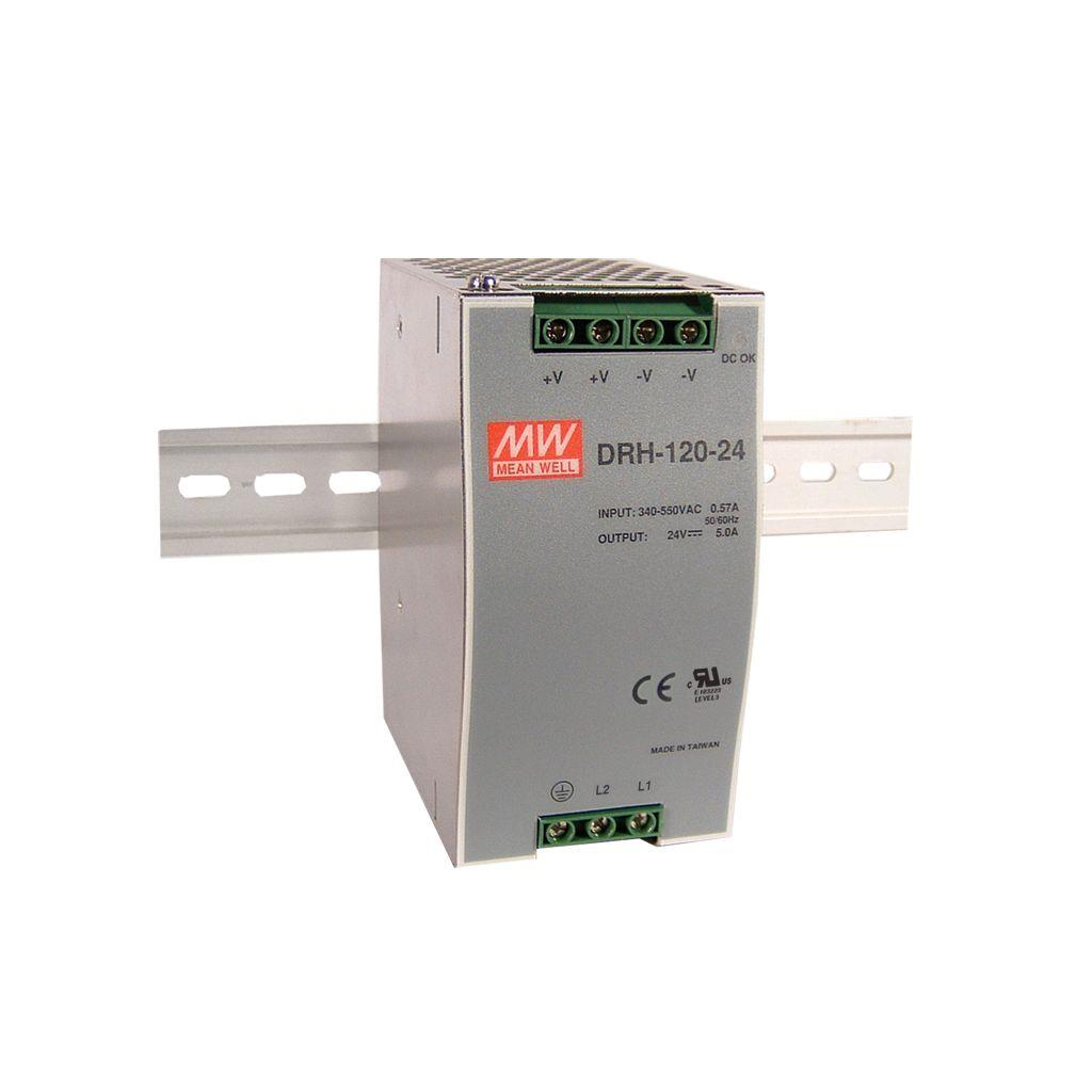 Mean Well DRH-120-48 AC/DC DIN Rail 48V 2.5A Power Supply