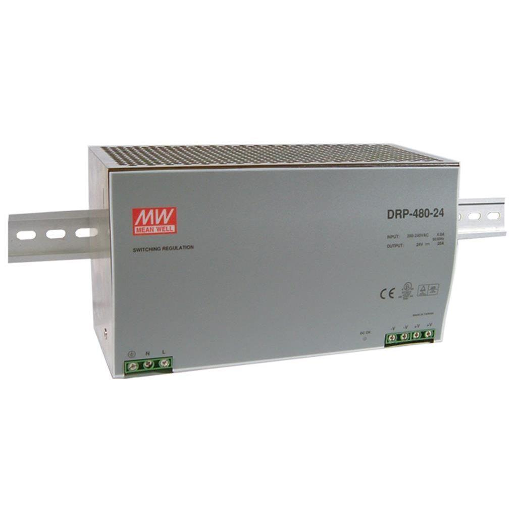 Mean Well DRP-480-48 AC/DC DIN Rail 48V 10A Power Supply