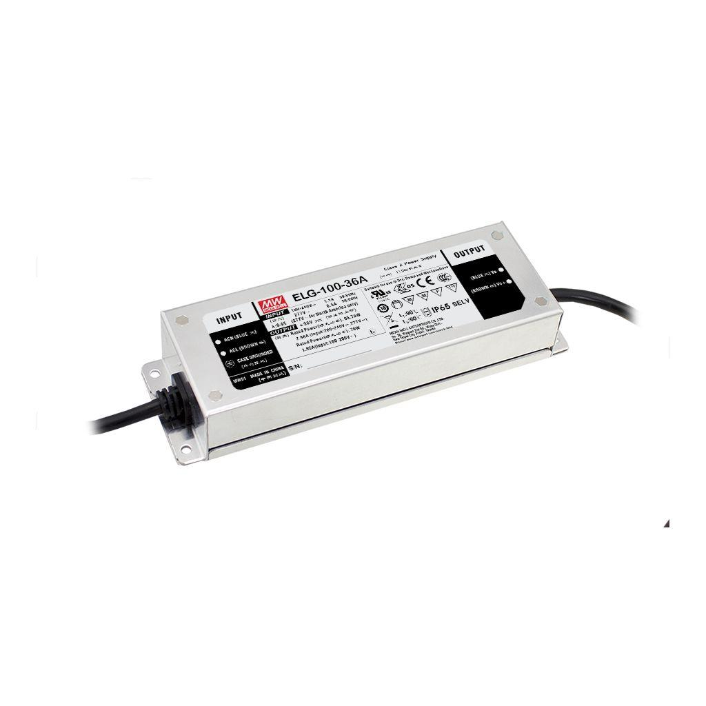 Mean Well ELG-100-36D2-3Y AC/DC C.C. C.V. Box Type - Enclosed 36V 2.66A LED Driver