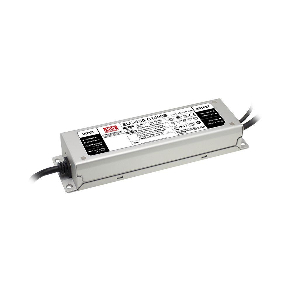 Mean Well ELG-150-C1400AB AC/DC Box Type - Enclosed 107V 1.4A Single output LED driver