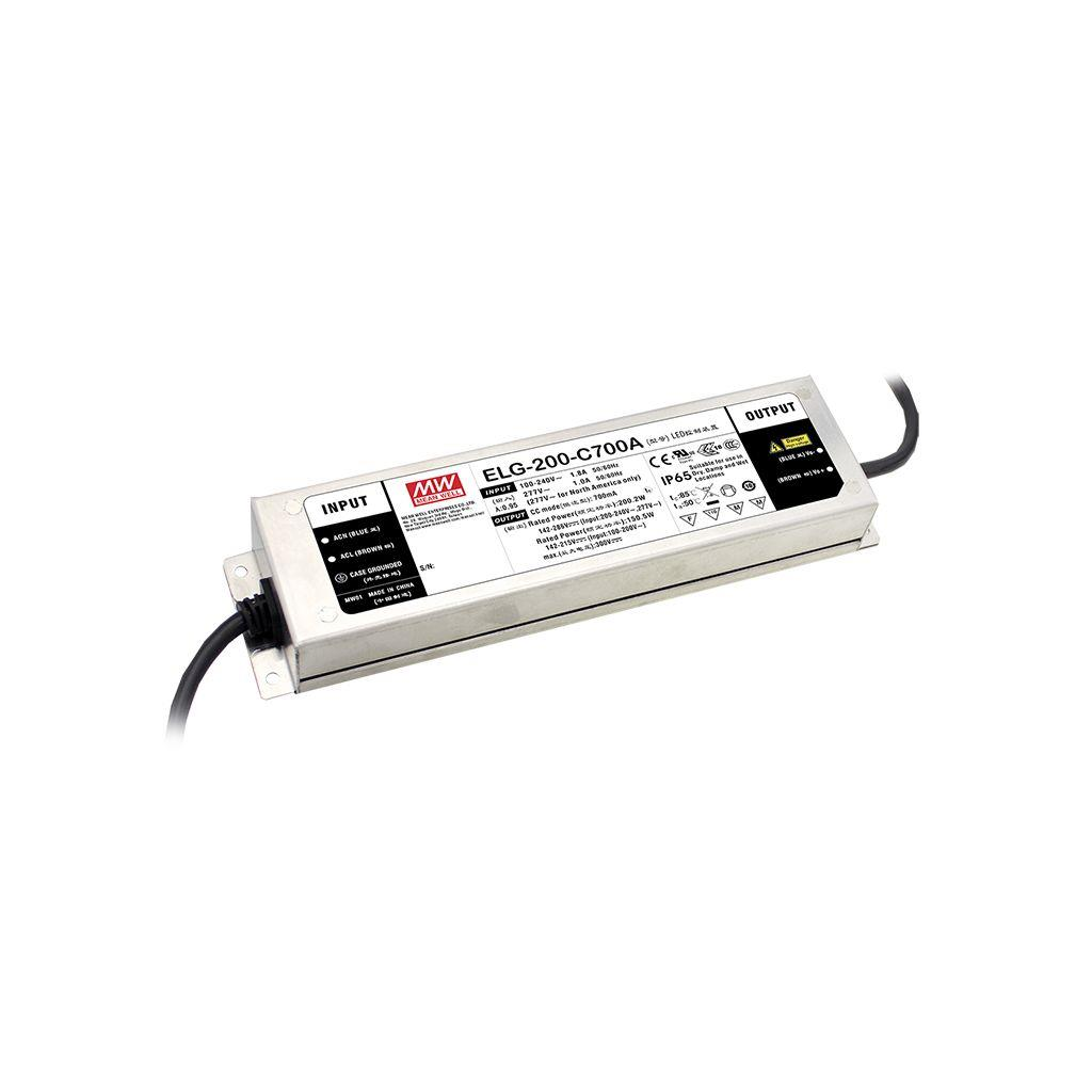Mean Well ELG-200-C700A-3Y AC/DC C.C. Box Type - Enclosed 286V 0.7A LED Driver
