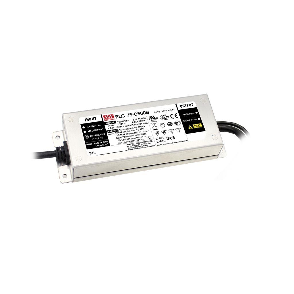 Mean Well ELG-75-12AB AC/DC Box Type - Enclosed 12V 5A Single output LED driver