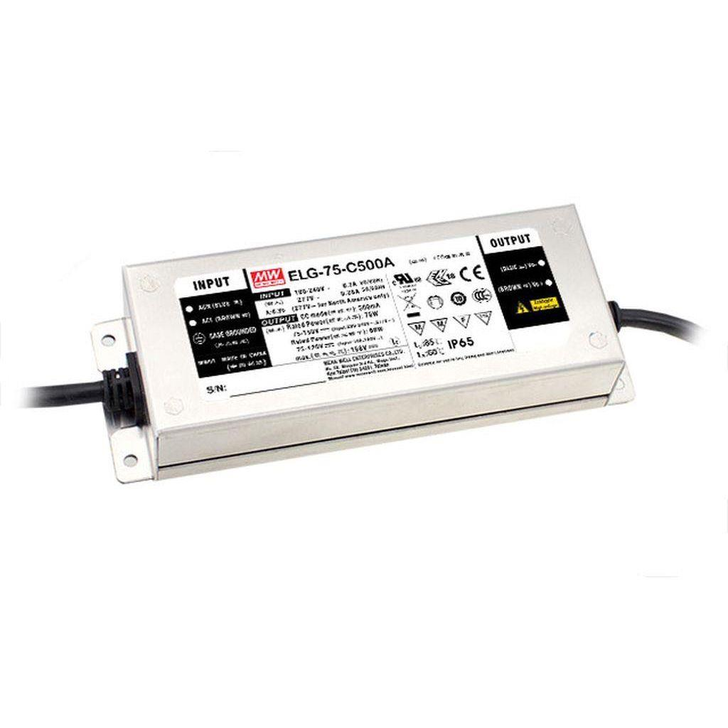 Mean Well ELG-75-C1050 AC/DC C.V. C.C. Box Type - Enclosed 71V 1.05A Single output LED Driver