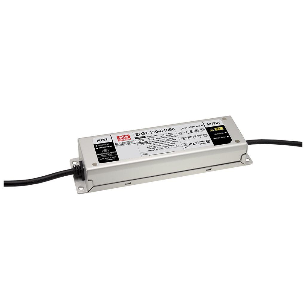 Mean Well ELGT-150-C1400DA AC/DC C.C. Box Type - Enclosed 107V 1.4A LED Driver
