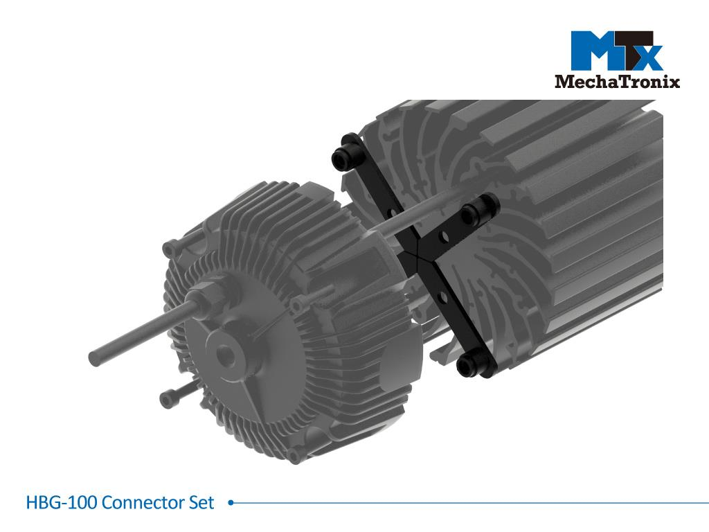 Mechatronix HBG-100 CONNECTOR SET Connector set for Mean Well HBG-100 LED drivers with all ModuLED-HBG and CoolBay® series LED coolers. Creates a 11mm gap between the cooler and driver