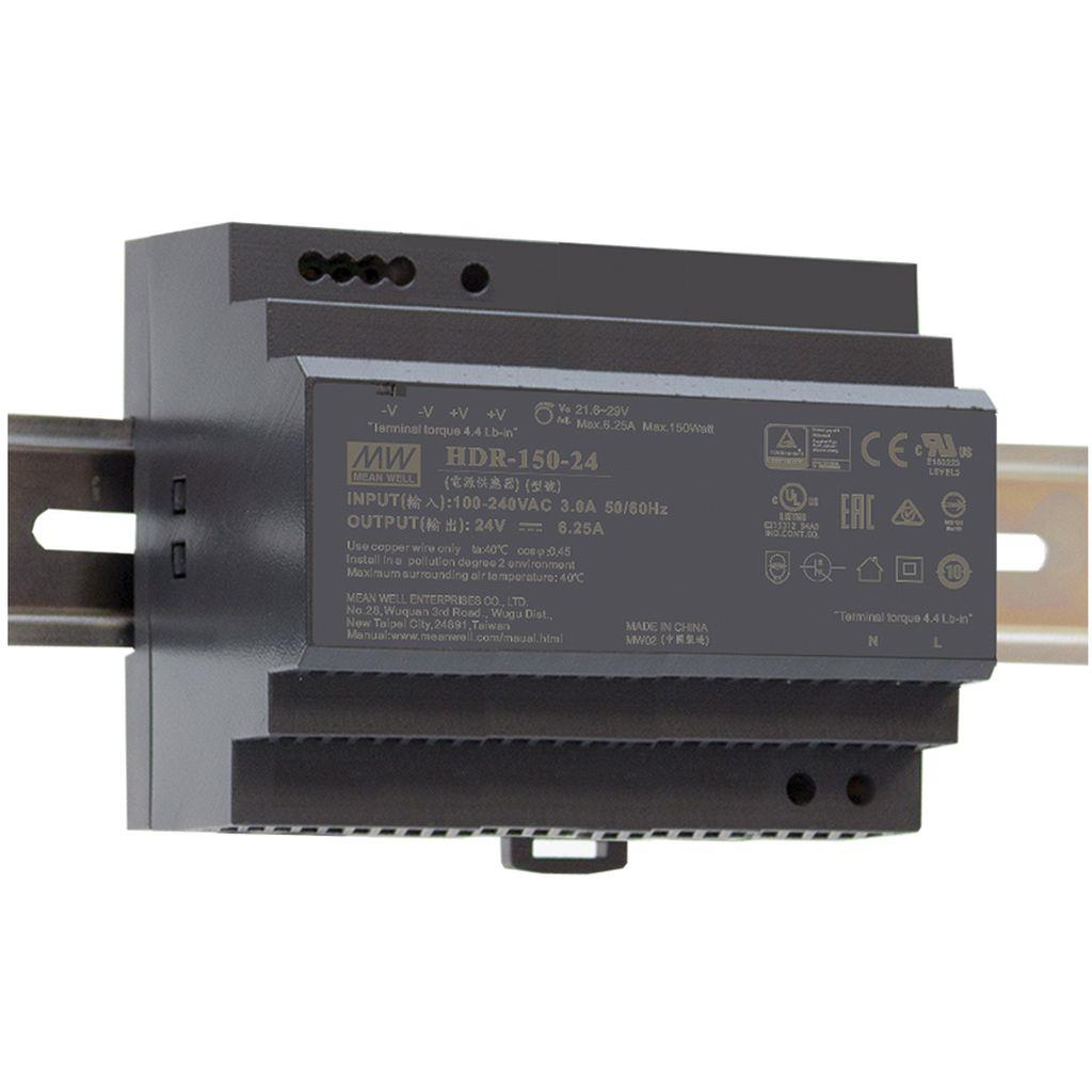 Mean Well HDR-150-15 AC/DC DIN rail 15V 9.5A Power Supply