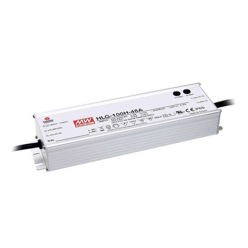 Mean Well HLG-100H-54 AC/DC C.V. C.C. Box Type - Enclosed 54V 1.77A Single output LED driver