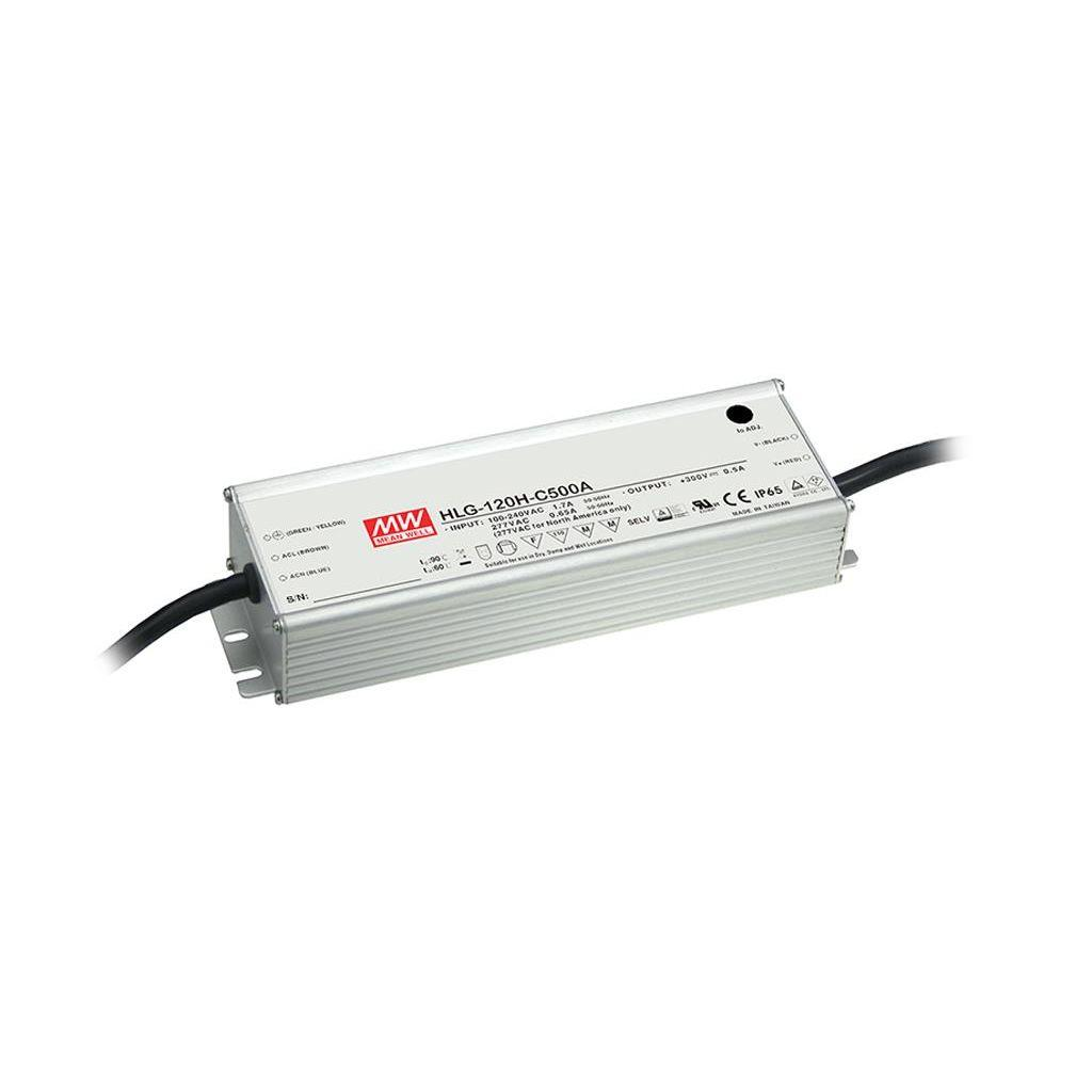 Mean Well HLG-120H-C500B AC/DC C.C. Box Type - Enclosed 300V 0.5A Single output LED driver