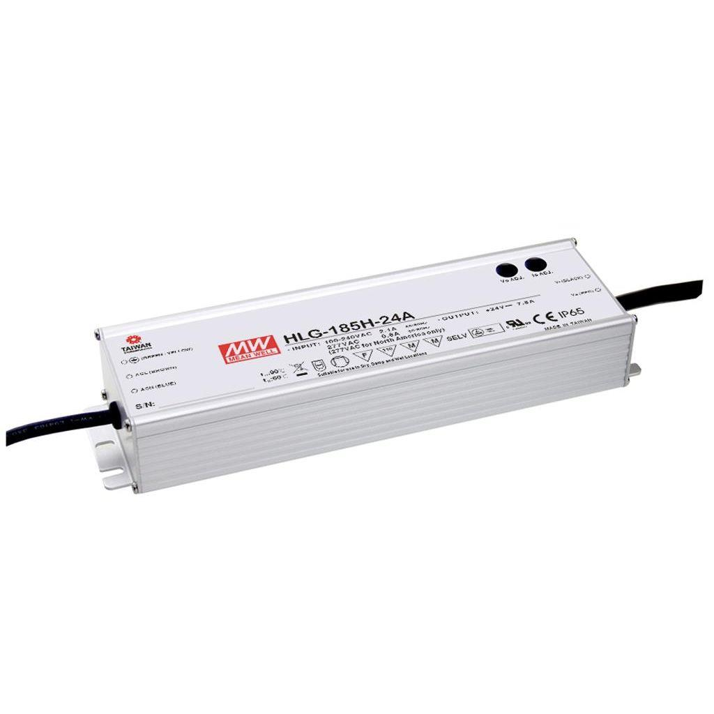 Mean Well HLG-185H-42A AC/DC C.V. C.C.  Box Type - Enclosed 42V 4.4A Single output LED driver