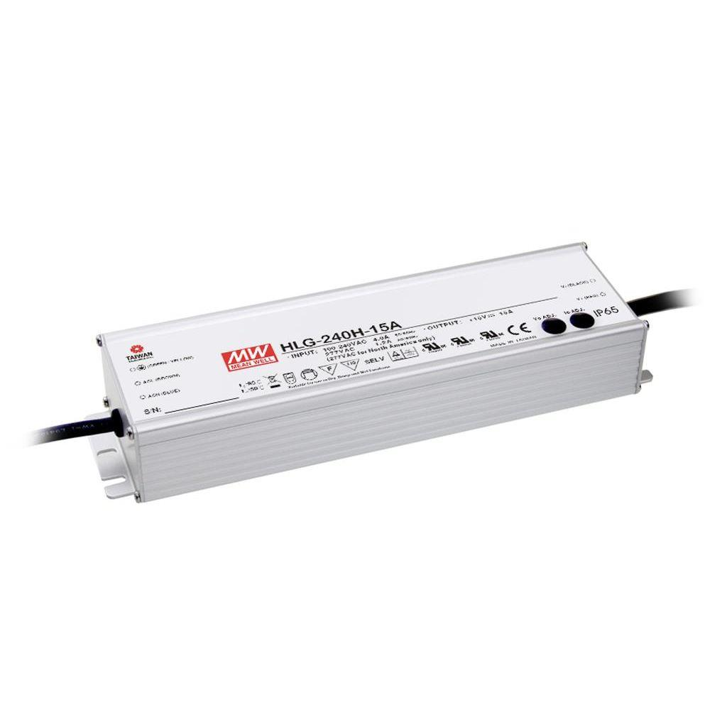 Mean Well HLG-240H-20A AC/DC C.V. C.C.  Box Type - Enclosed 20V 12A Single output LED driver