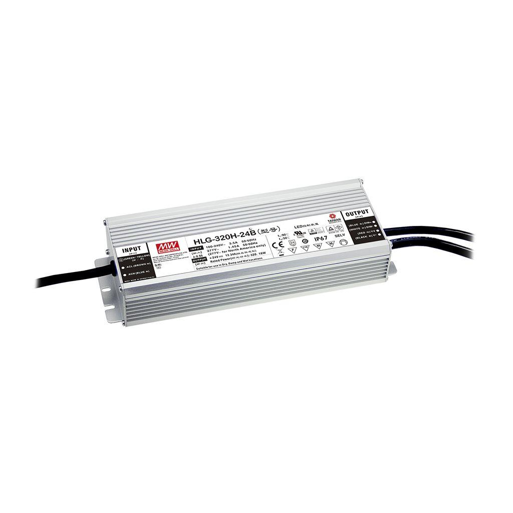 Mean Well HLG-320H-24AB AC/DC Box Type - Enclosed 24V 13.34A Single output LED driver