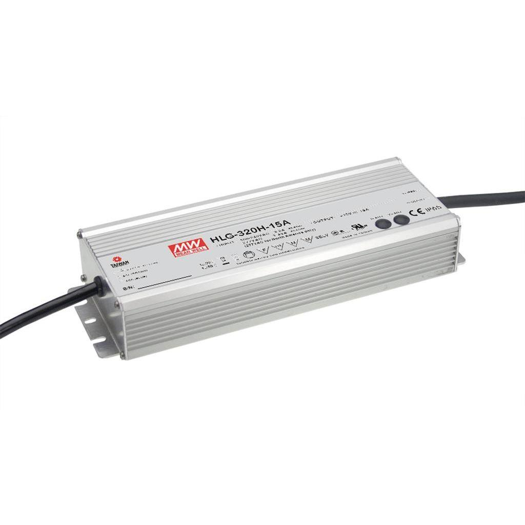Mean Well HLG-320H-30C AC/DC C.V. C.C.  Box Type - Enclosed 30V 10.74A Single output LED driver