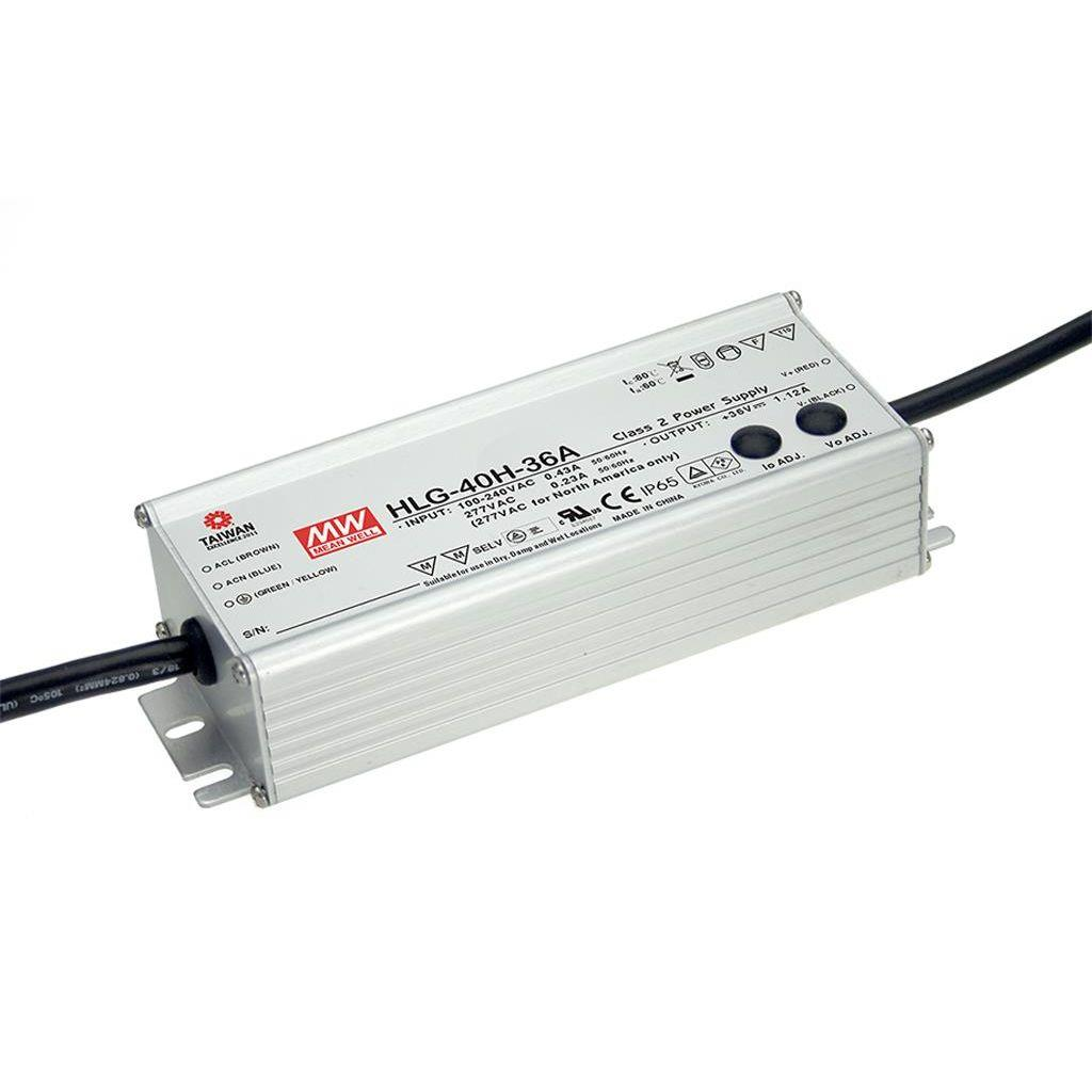 Mean Well HLG-40H-36A AC/DC C.V. C.C.  Box Type - Enclosed 36V 1.12A Single output LED driver