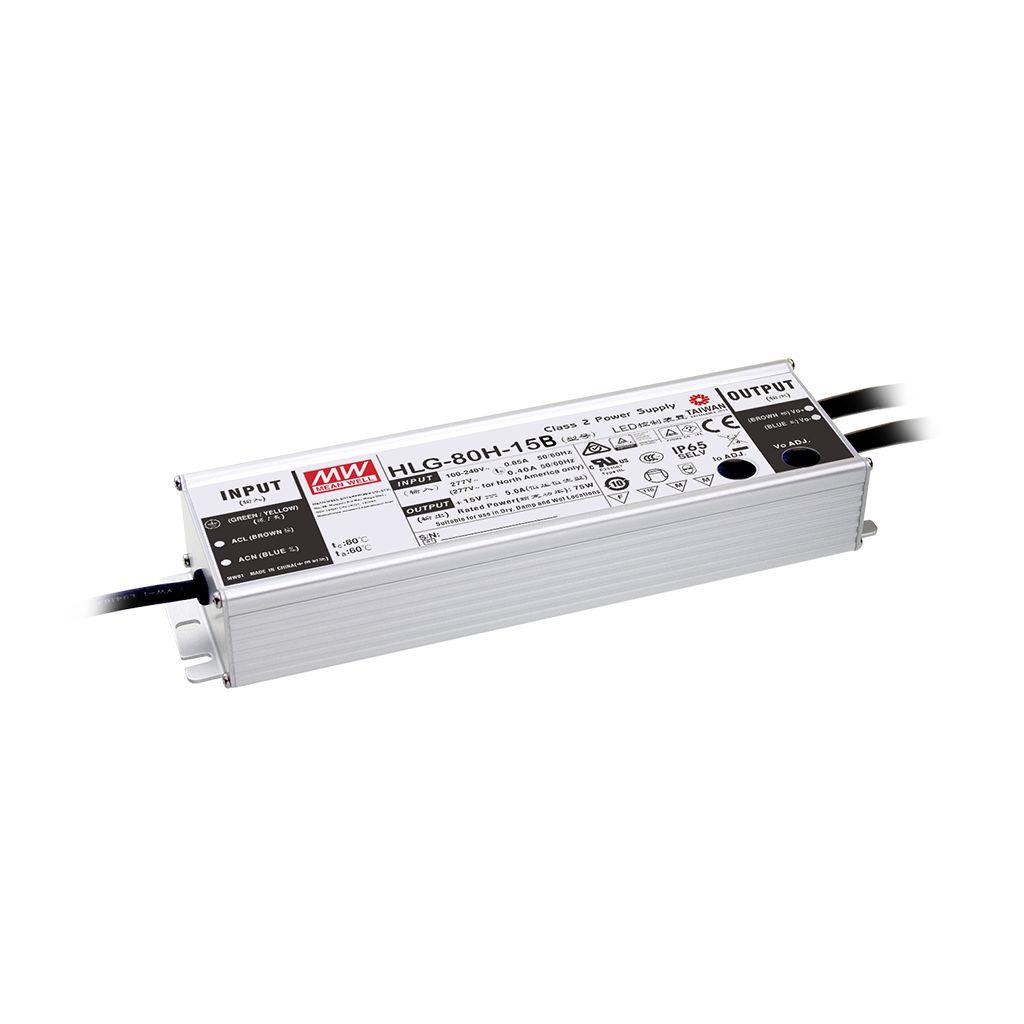 Mean Well HLG-80H-12AB AC/DC Box Type - Enclosed 12V 5A Single output LED driver