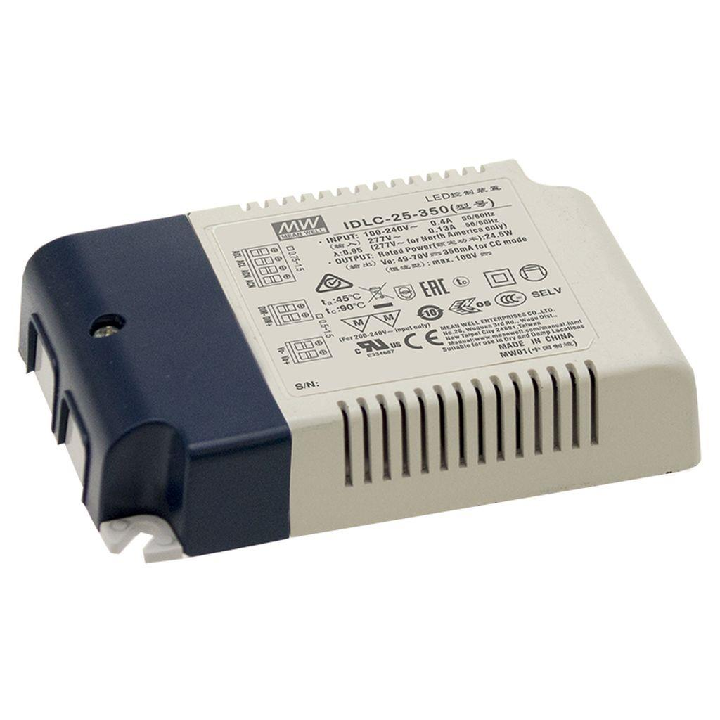 Mean Well IDLC-25-350 AC/DC C.C. Box Type - Enclosed 70V 0.35A Power Supply