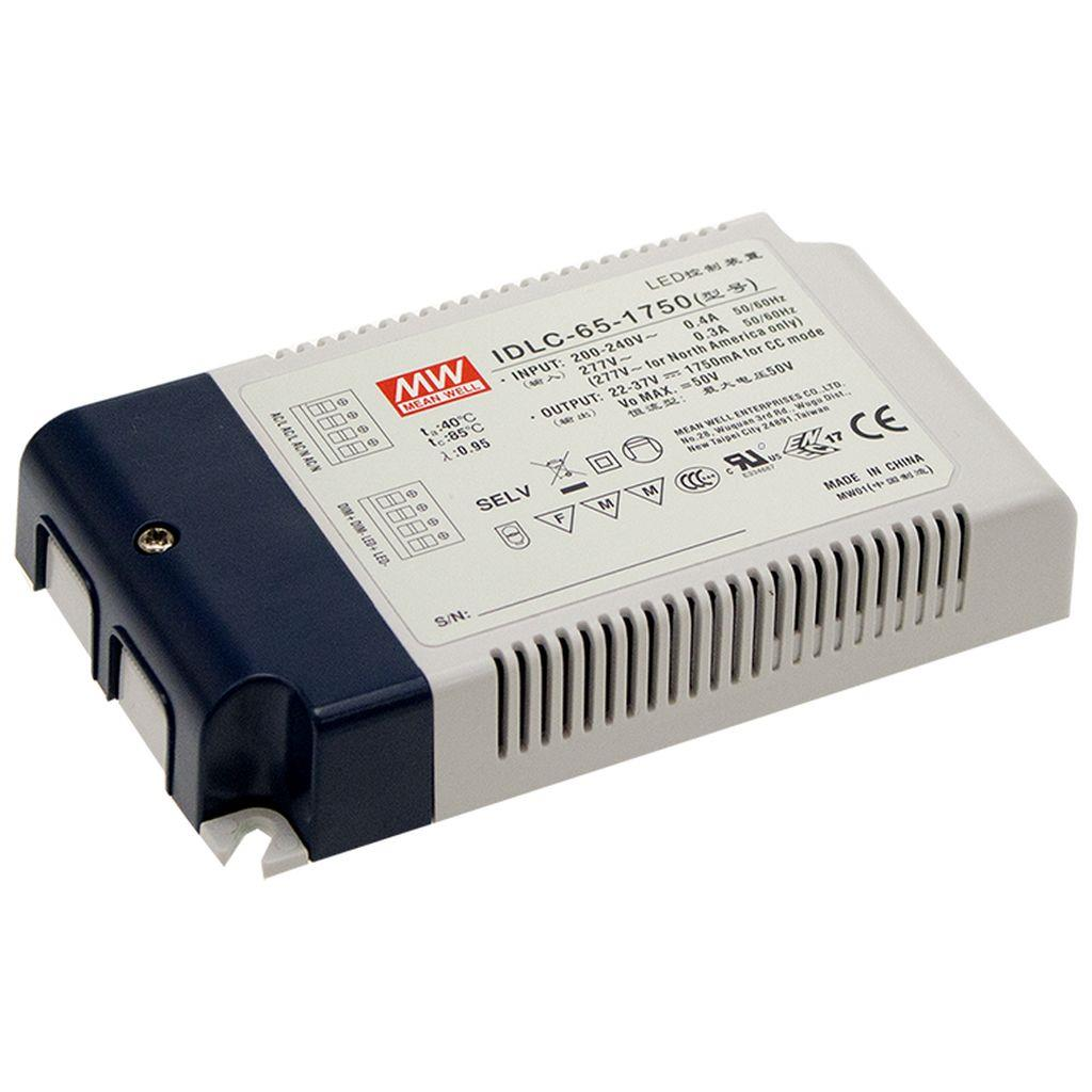 Mean Well IDLC-65-1400DA AC/DC C.C. Box Type - Enclosed 46V 1.4A LED Driver