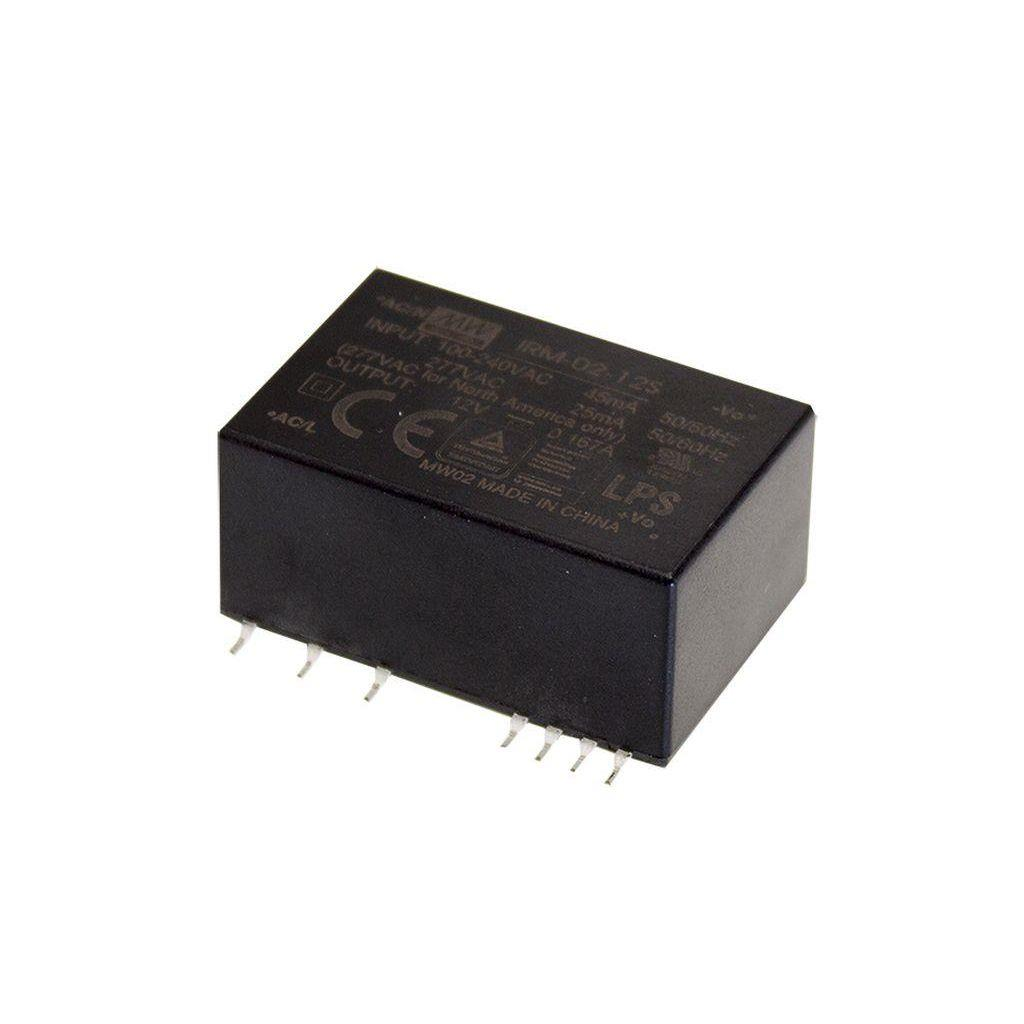 Mean Well IRM-02-9S AC/DC PCB Mount - SMD 9V 0.222A Power Supply