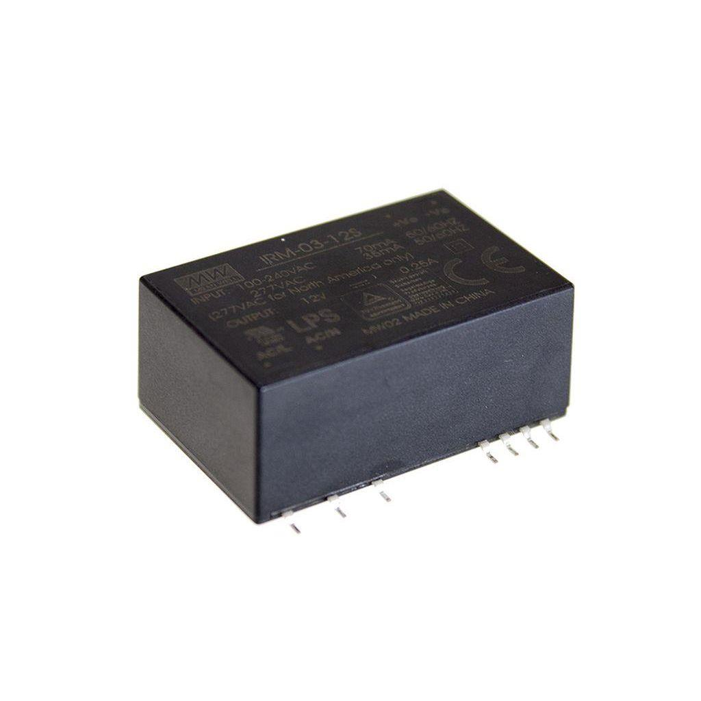 Mean Well IRM-03-15S AC/DC Open Frame - PCB 15V 0.2A Power Supply