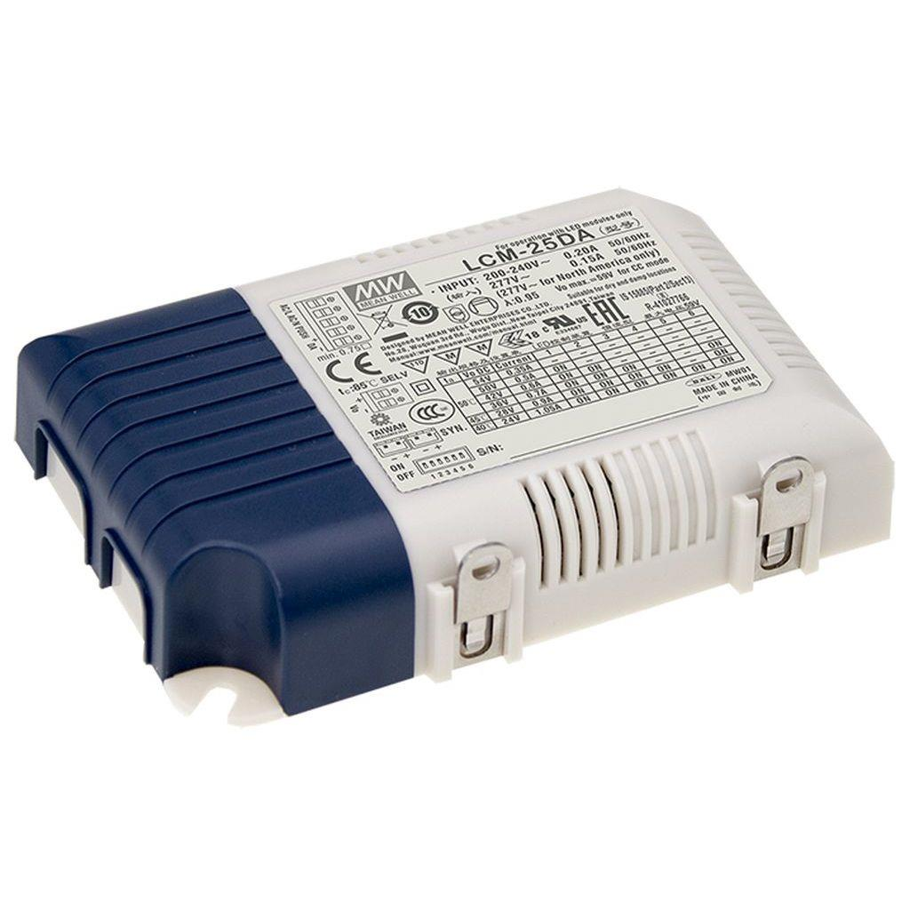 Mean Well LCM-25DA AC/DC C.C.  Box Type - Enclosed 54V 0.35A Multi-Stage Output LED driver