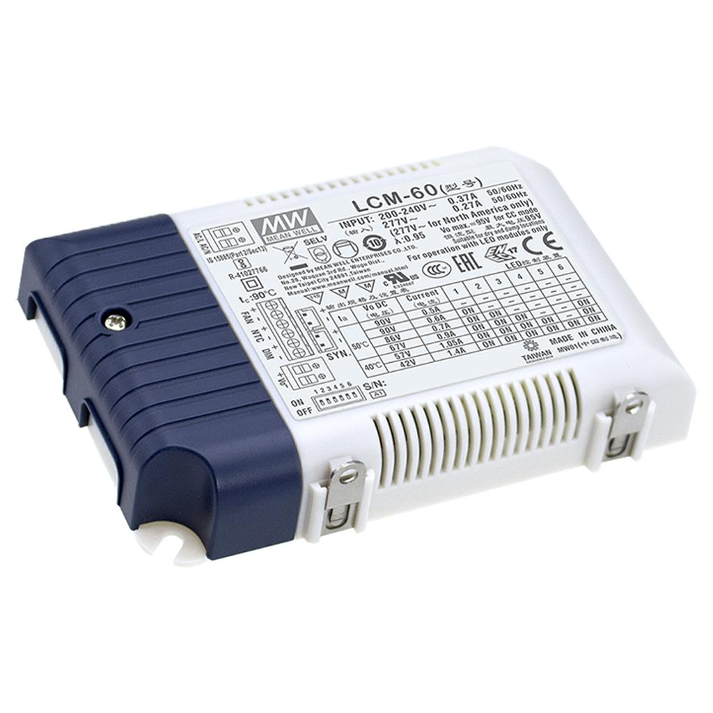 Mean Well LCM-60BLE AC/DC Box Type - Enclosed 90V 0.5A Multi-Stage Output LED driver
