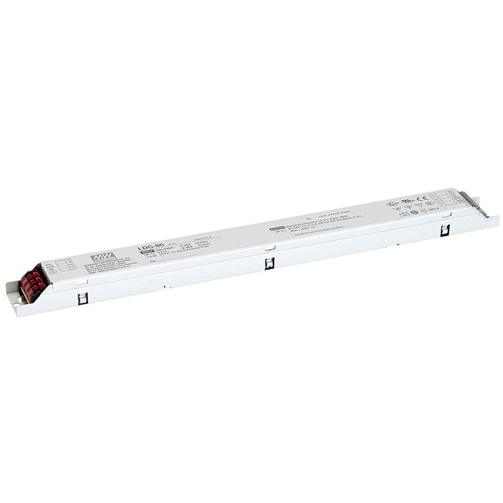 Mean Well LDC-80 AC/DC C.C. C.V. Box Type - Enclosed 56V 2.1A LED Driver