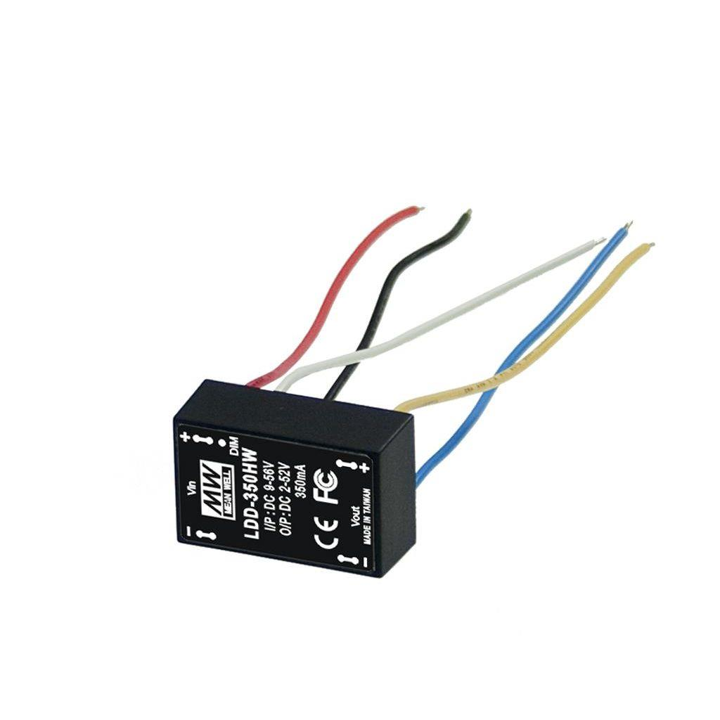 LDD-300HW DC/DC C.C. Box Type - Enclosed 52V 0.3A Step down LED driver