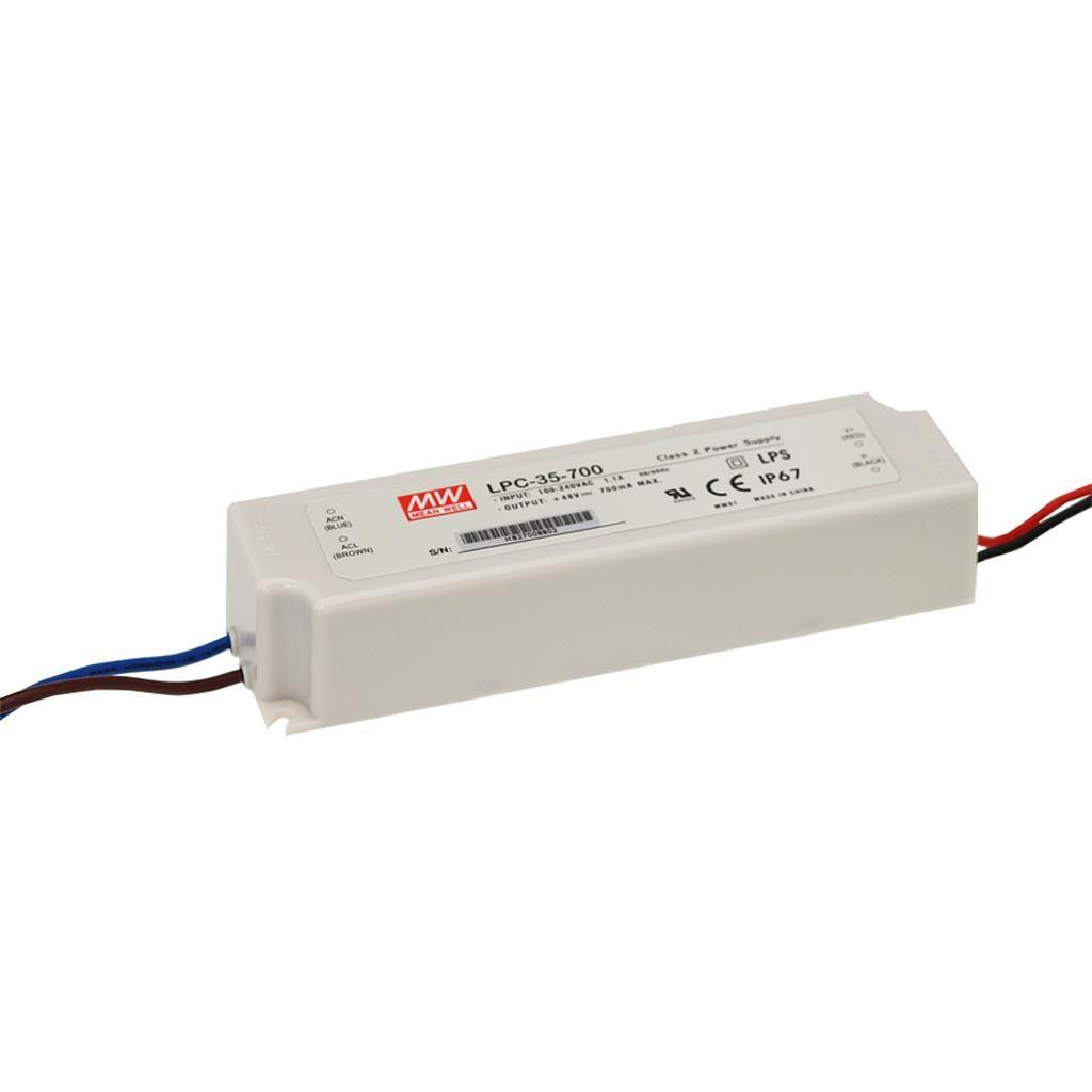 Mean Well LPC-35-700 AC/DC C.C. Box Type - Enclosed 48V 0.7A Single output LED driver