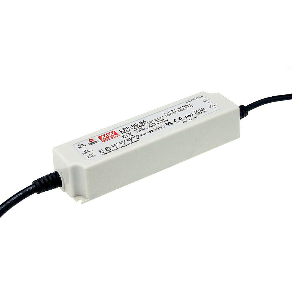 Mean Well LPF-60-24 AC/DC C.V. C.C. Box Type - Enclosed 24V 2.5A Single output LED driver