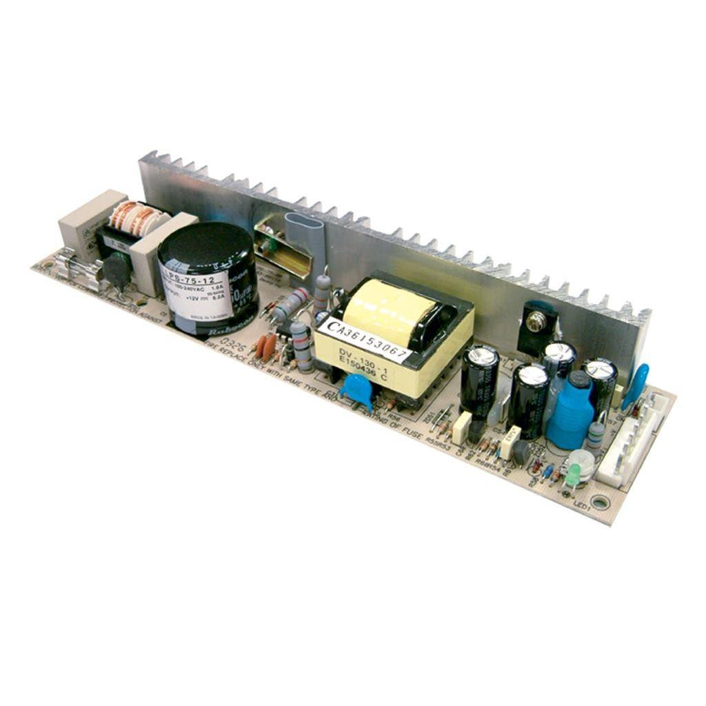 Mean Well LPS-75-12 AC/DC Open Frame - PCB 12V 6.2A Power Supply