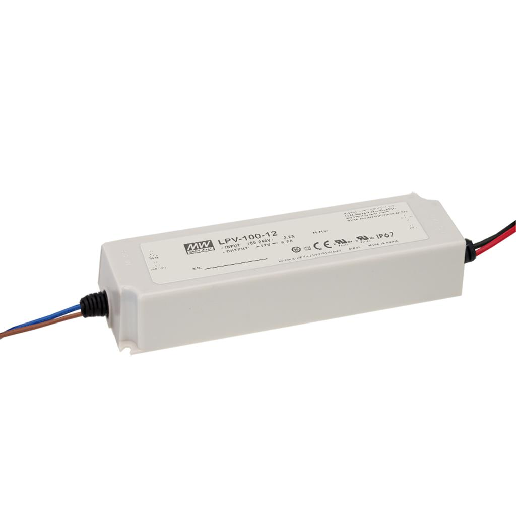 Mean Well LPV-100-48 AC/DC C.V. Box Type - Enclosed 48V 2.1A Single output LED driver