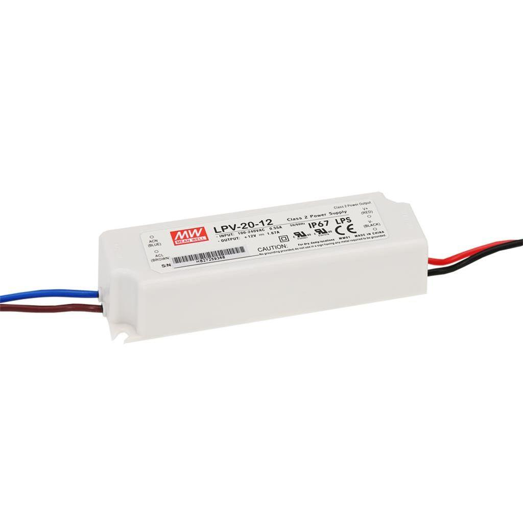 Mean Well LPV-20-12 AC/DC C.V. Box Type - Enclosed 12V 1.67A Single output LED driver