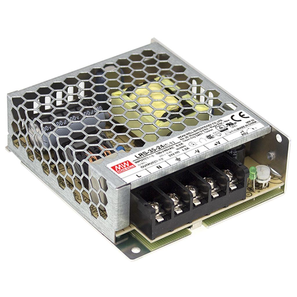 Mean Well LRS-35-36 AC/DC Box Type - Enclosed 36V 1A Power Supply