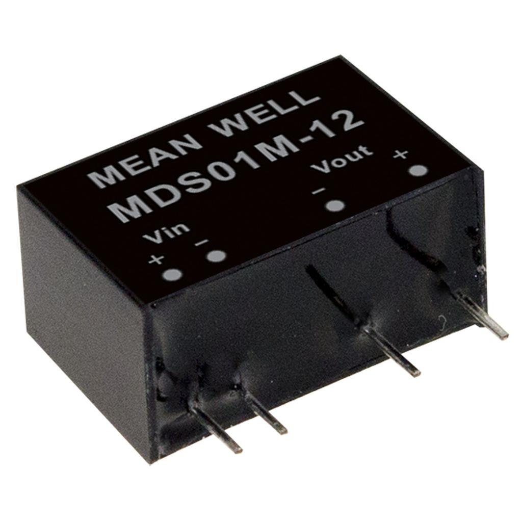 Mean Well MDS01M-12 DC/DC PCB Mount - Through Hole 12V 0.084A medical Converter