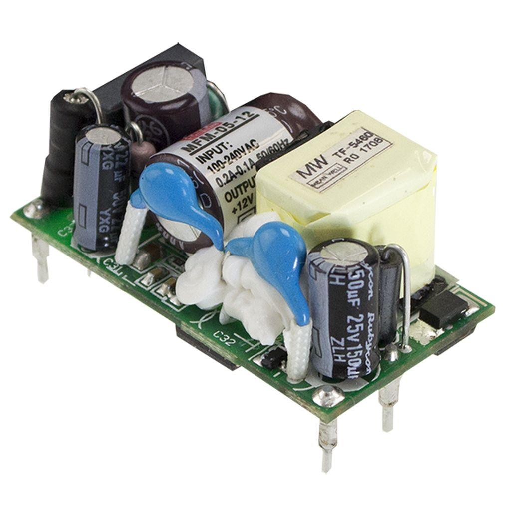 Mean Well MFM-05-12 AC/DC Open Frame - PCB 12V 0.42A Power Supply