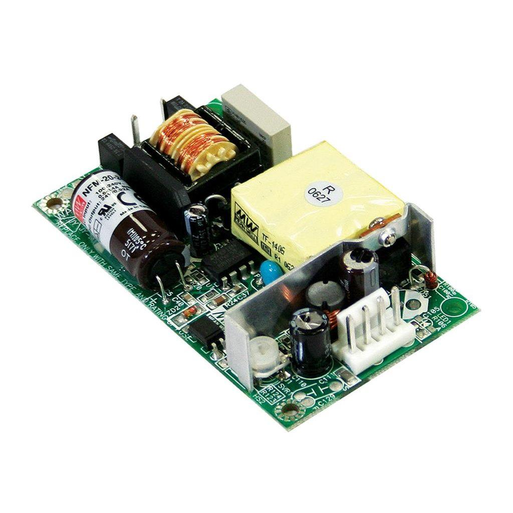 Mean Well NFM-20-24 AC/DC Open Frame - PCB 24V 0.92A Power Supply