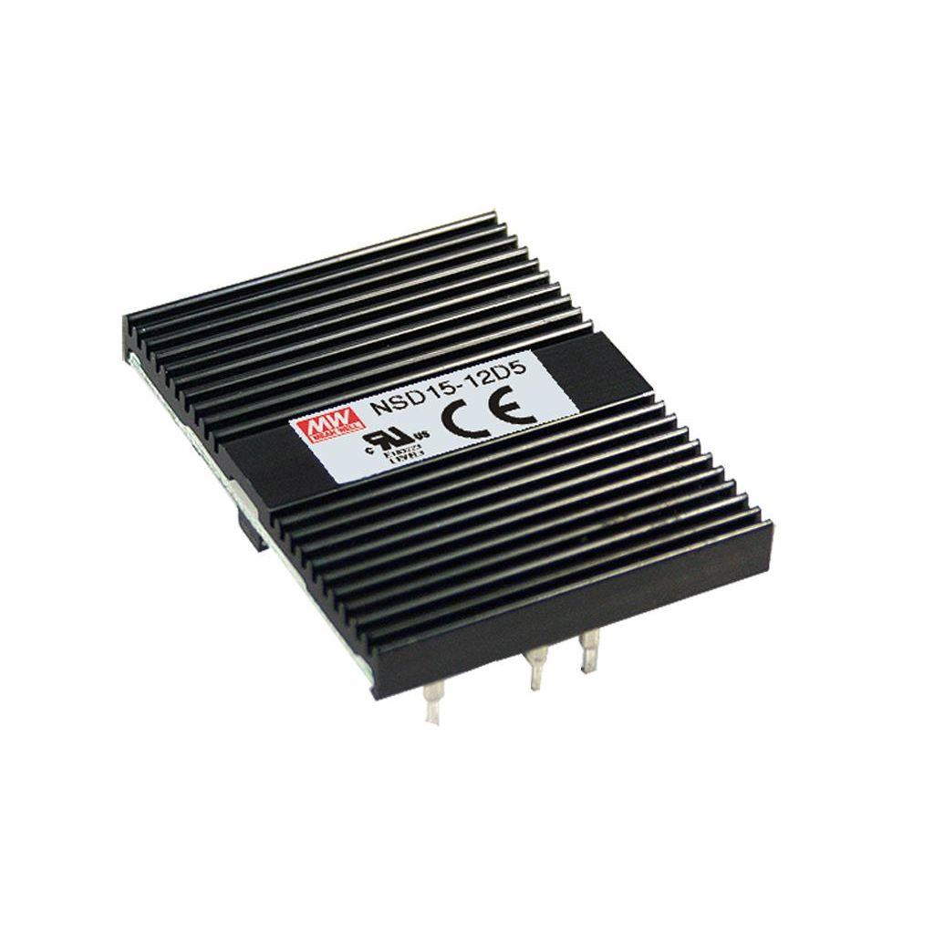 Mean Well NSD15-48D12 DC/DC Open Frame - PCB 12V 0.62A Converter