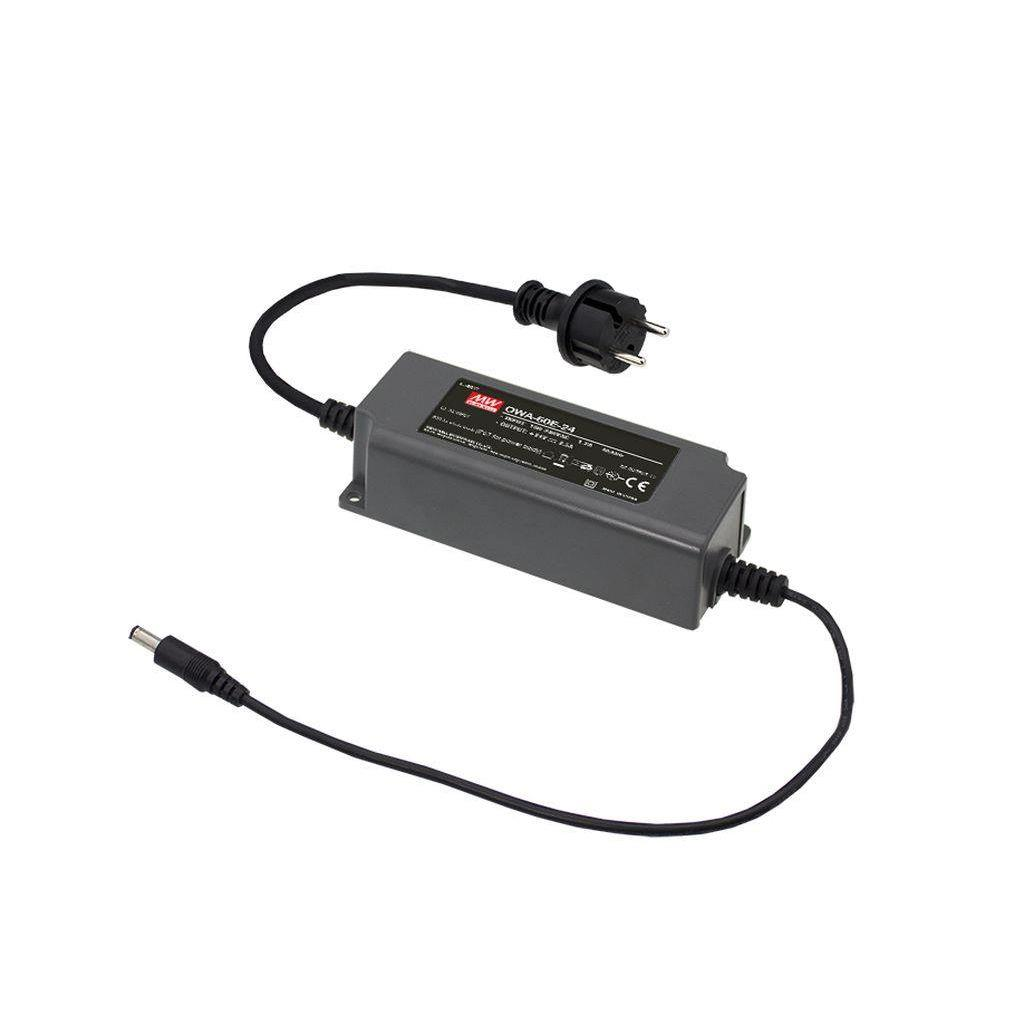 Mean Well OWA-60E-42 AC/DC Box Type - Enclosed 42V 1.5A adaptor