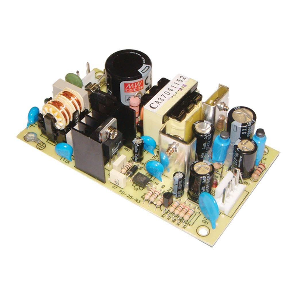 Mean Well PD-25A AC/DC Open Frame - PCB 5V 2.5A Power Supply