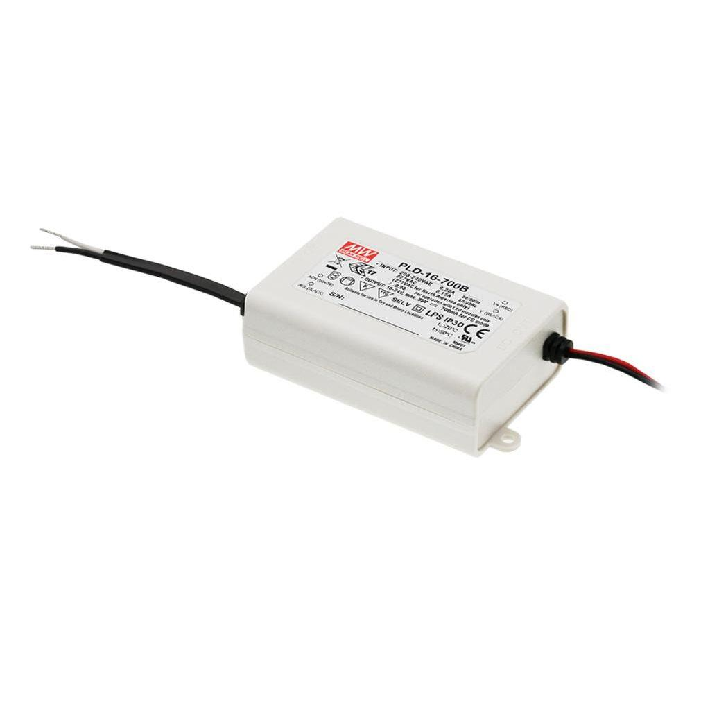 Mean Well PLD-16-1050B AC/DC C.C. Box Type - Enclosed 16V 1.05A Single output LED driver