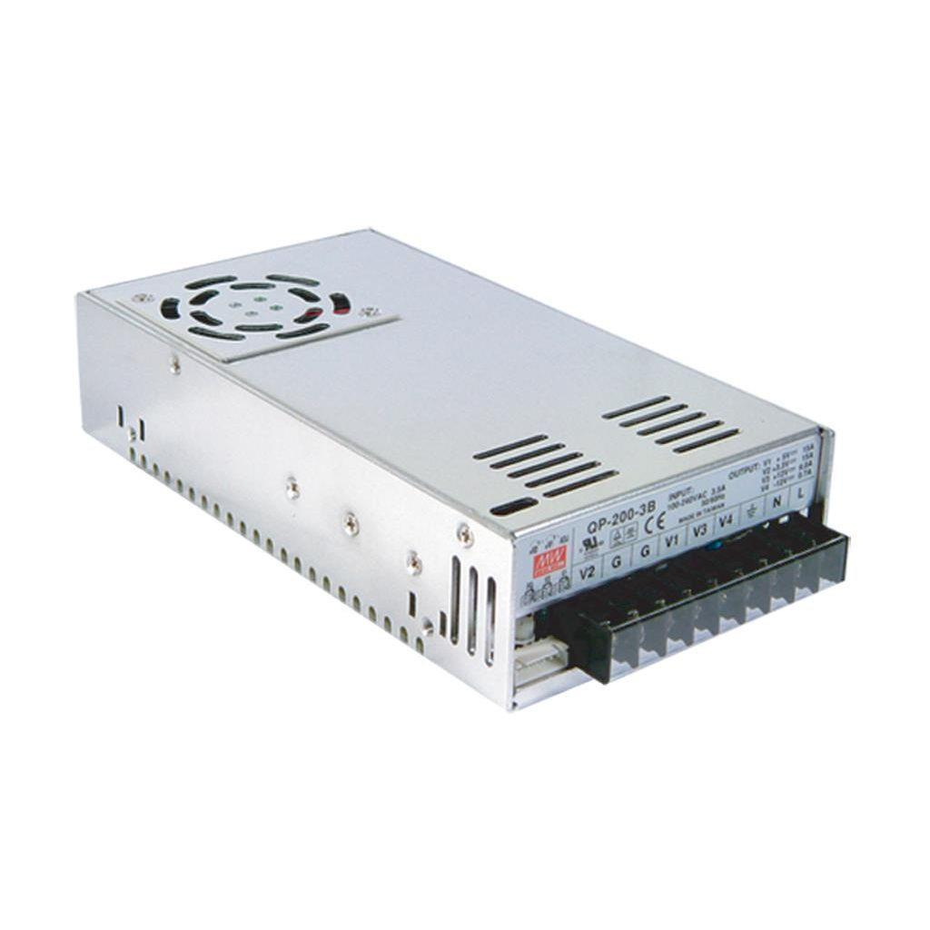 Mean Well QP-200-3B AC/DC Box Type - Enclosed 5V 20A Power Supply