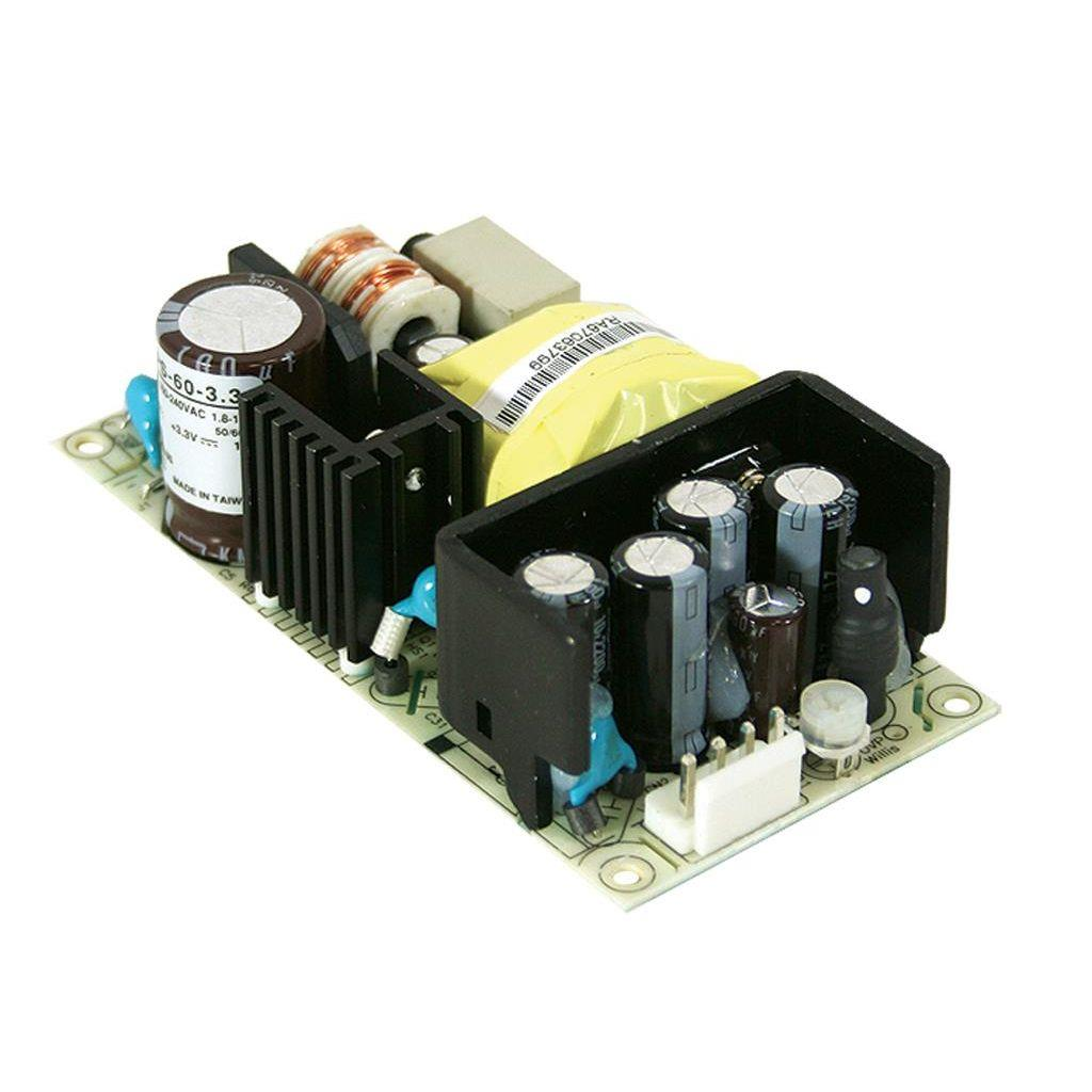 Mean Well RPS-60-24 AC/DC Open Frame - PCB 24V 2.5A Power Supply